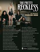 Taylor Momsen ~ The Pretty Reckless Tour Dates Poster HQ