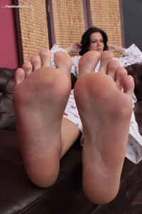 image Smell and lick my nylon feet